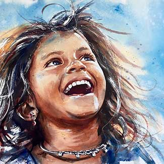 Adan J Cespedes #Watercolor Preview Sonrisa www.adanjcespedes.com